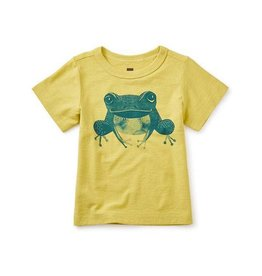 Tea Collection tea collection growling grass frog graphic baby tee