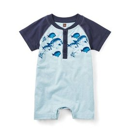 Tea Collection tea collection parrotfish henley romper