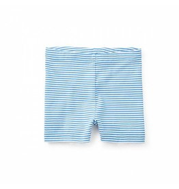 Tea Collection tea collection striped somersault shorts - atlas blue