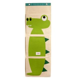 3 Sprouts 3 sprouts wall organizer - green crocodile