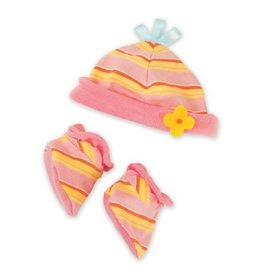Manhattan Toy baby stella booties + bonnet set