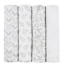 Aden + Anais aden + anais tea collection savanna animals classic swaddle 4pk