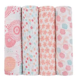 Aden + Anais aden + anais tea collection global garden swaddle 4pk