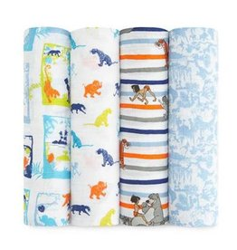 Aden + Anais aden + anais disney the jungle book classic swaddle 4pk