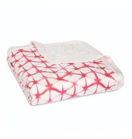 aden + anais berry shibori silky soft dream blanket
