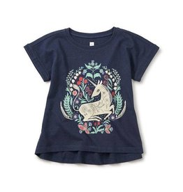 Tea Collection tea collection unicorn cuffed top
