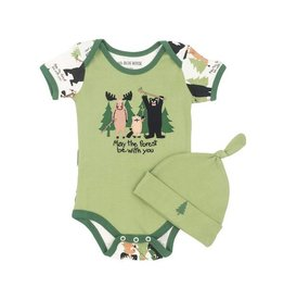 Hatley hatley baby bodysuit with hat - may the forest be with you