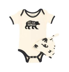 Hatley hatley baby bodysuit with hat - black bear