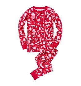 Hatley hatley kids printed pajama set - oh canada