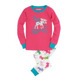 Hatley hatley kids pajama set - patterned moose