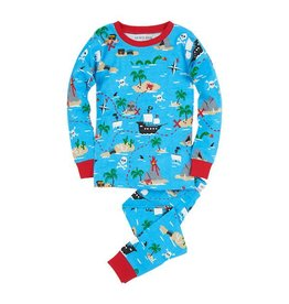 Hatley hatley kids printed pajama set - treasure island