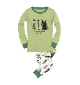 Hatley hatley kids pajama set - may the forest be with you