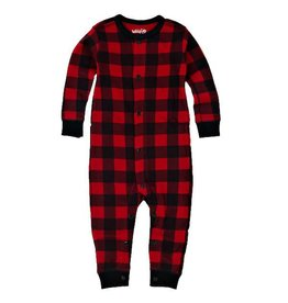Hatley hatley baby union suit - trailing behind buffalo plaid