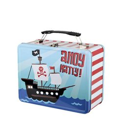Hatley hatley kids tin lunch box - pirates