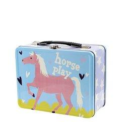 Hatley hatley kids tin lunch box - show horses