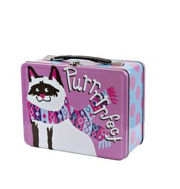 Hatley hatley kids tin lunch box - sweater cats