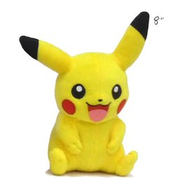 "TOMY - Pokemon pokemon 8"" plush happy pikachu"