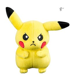"TOMY - Pokemon pokemon 8"" plush angry pikachu"