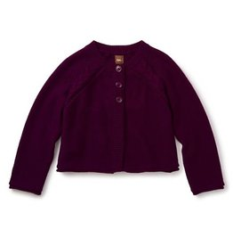 Tea Collection tea collection agatha cable cardigan - cosmic berry