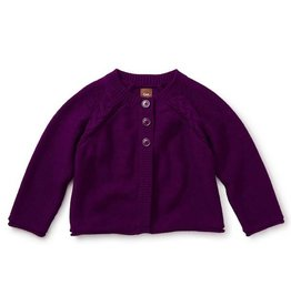 Tea Collection tea collection agatha 3 button baby cardigan - cosmic berry