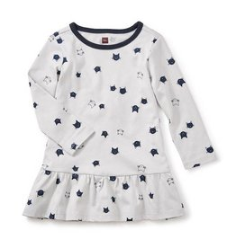 Tea Collection tea collection moggy cat ruffle baby dress