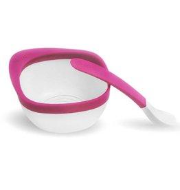 Zoli zoli mash bowl and spoon kit - pink