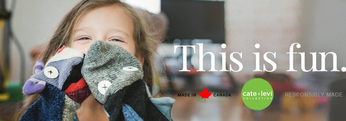 Cate & Levi Soft Toys & Puppets - Made in Canada!