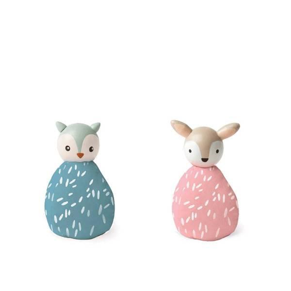 MiO by Manhattan Toy mio animal set owl + deer
