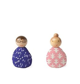 MiO by Manhattan Toy mio people set pink + royal blue