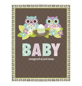Yellow Bird Paper Greetings yellow bird paper greetings - owl family baby card