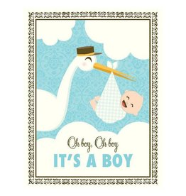 Yellow Bird Paper Greetings yellow bird paper greetings - stork it's a boy baby card