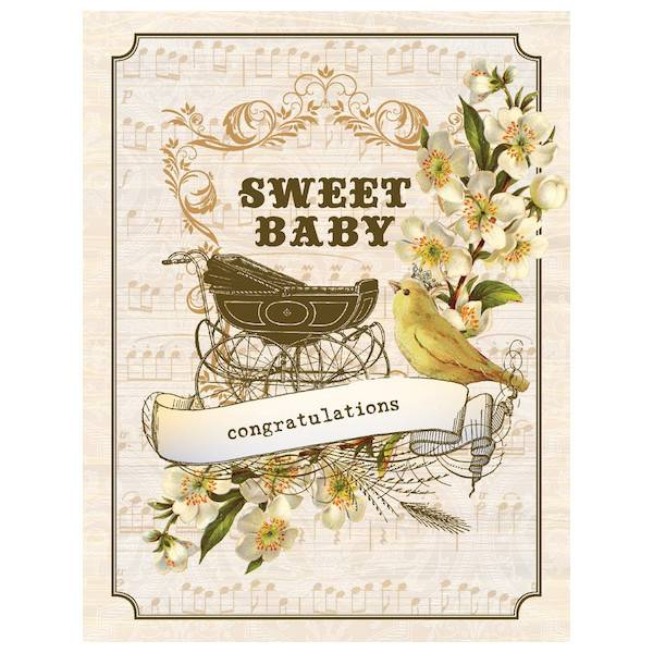 New baby card vintage buggy by yellow bird paper greetings baby yellow bird paper greetings yellow bird paper greetings vintage baby buggy card m4hsunfo
