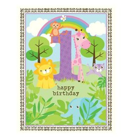 Yellow Bird Paper Greetings yellow bird paper greetings - girl 1st birthday glitter card