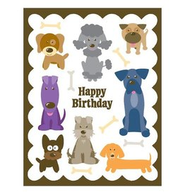 Yellow Bird Paper Greetings yellow bird paper greetings - dogs birthday glitter card