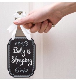 Pearhead pearhead baby is sleeping chalk style door hanger