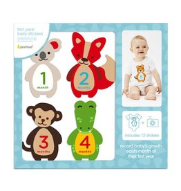 Pearhead pearhead first year felt belly stickers - animals