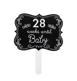 Pearhead pearhead weeks until baby chalkboard