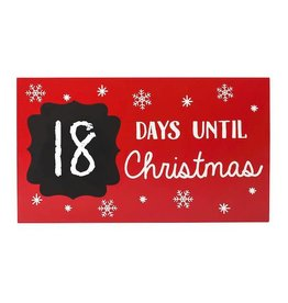Pearhead pearhead countdown to christmas chalkboard plaque