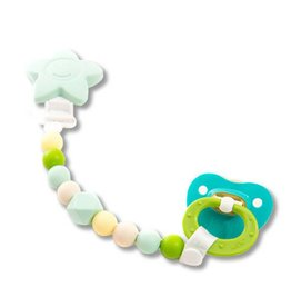 Petite Creations petite creations silicone pacifier holder - green star
