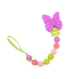 Chewbeads chewbeads cb go where's the pacifier clip - butterfly (glow in the dark)