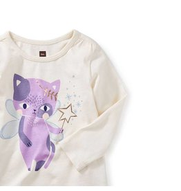 Tea Collection tea collection cat fairy graphic tee