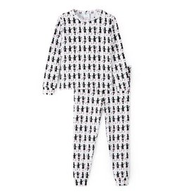 nohi kids nohi kids two-piece pajama set - ballet cat