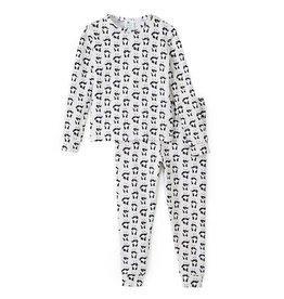 nohi kids nohi kids two-piece pajama set - dancing panda