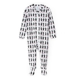 nohi kids nohi kids zip up footed romper - ballet cat