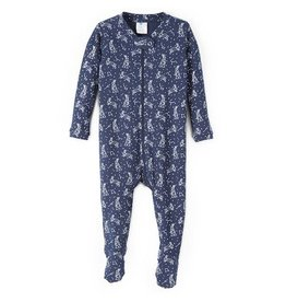 nohi kids nohi kids zip up footed romper - midnight constellation