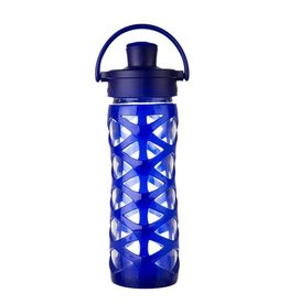 Lifefactory lifefactory 16oz active flip glass + silicone bottle
