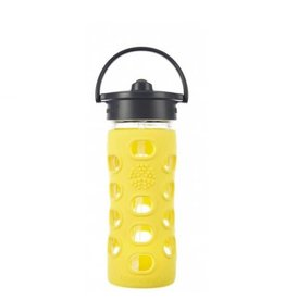 Lifefactory lifefactory 12oz straw glass + silicone bottle