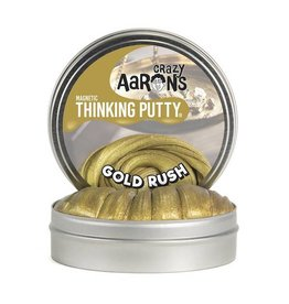"Crazy Aaron Enterprises Inc. crazy aaron's thinking putty super magnetic -  gold rush 4"" tin (3.2oz) with magnet"