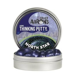 "Crazy Aaron Enterprises Inc. crazy aaron's thinking putty cosmic - north star 4"" tin (3.2oz) with UV glow charger"