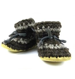 Padraig Cottage padraig cottage youth slippers - brown stripe